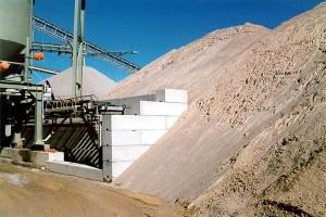 Betontrennwandsystem für Kies Sand und Splitt
