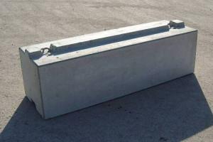 MEGABLOC Super Betonstein mit durchgehender Betonfeder in 195 cm und 187 cm Länge