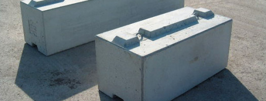 MEGABLOC Super Betonstein mit durchgehender Betonfeder in 255 cm und 127 cm Länge