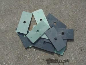 Durch MEGABLOC Unterlegplatten können kleiner Unebenheiten in der Bodenplatte ausgeglichen werden.