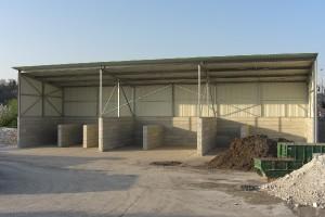 Entsorgungsbetrieb | Überdachung der Schüttgutlagerhalle